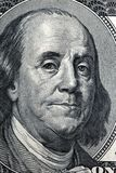Benjamin Franklin, a portrait. With 100 dollars Royalty Free Stock Image