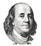 Benjamin Franklin portrait Royalty Free Stock Photos