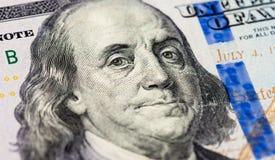 Benjamin Franklin portret Fotografia Royalty Free