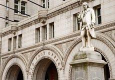 Benjamin Franklin - primeiro postmaster Fotos de Stock
