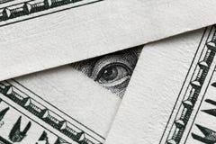 Benjamin Franklin que olha de cem cédulas do dólar Fotos de Stock
