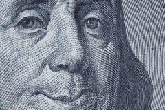 Benjamin Franklin que sonríe a usted. Imagen de archivo libre de regalías