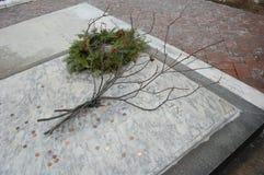 Benjamin Franklin's Grave, Philadelphia. Benjamin Franklin, American inventor, scientist, printer, statesman and more, is buried in his home city of Philadelphia Stock Photography