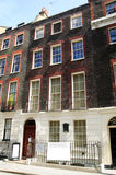 Benjamin Franklin's House. Benjamin Franklin, one of the Founding Fathers of The U.S.A. lived at 36 Craven Street close to London's Trafalgar Square for 16 years Royalty Free Stock Photography