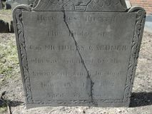 Grave yard. Memorial, Ben Franklin stock image