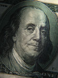 Benjamin Franklin's portrait is depicted on the $ 100 banknotes Stock Image