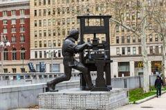 Benjamin Franklin Sculpture Stock Photography