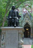 Benjamin Franklin sculpture in University of Pennsylvania Royalty Free Stock Photo