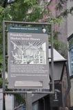 Benjamin Franklin Signboard House da Filadelfia in Pensilvania U.S.A. fotografia stock libera da diritti
