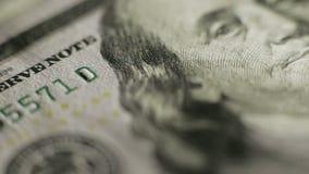 Benjamin Franklin stående på 100 US dollar arkivfilmer