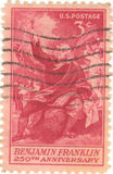 Benjamin Franklin Stamp Royalty-vrije Stock Foto