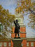 Benjamin Franklin statua Fotografia Royalty Free