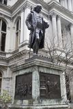 Benjamin Franklin Statue - Boston, Massachusetts, U.S.A. fotografia stock