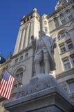 Benjamin Franklin statuy urzędu pocztowego budynku Stary washington dc zdjęcia stock