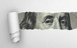 Benjamin Franklin stawia czoło zdjęcia stock
