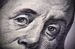 Benjamin Franklin stellen gegenüber Stockbild