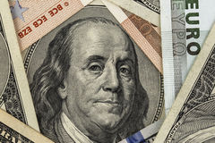 Benjamin Franklin stående Royaltyfri Foto