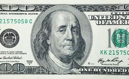 Benjamin Franklin triste Immagine Stock