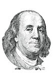 Benjamin Franklin (vektor) stock illustrationer