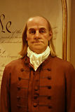 Benjamin Franklin Wax Figure Royaltyfri Bild