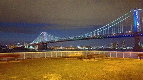 Benjamin- Franklinbrücke Stockfotos