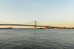 Benjamin- Franklinbrücke Stockfotografie