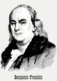 Benjamin- Franklinportrait Lizenzfreies Stockfoto
