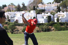 Benjamin Hebert at Andalucia Golf Open, Marbella Stock Photo