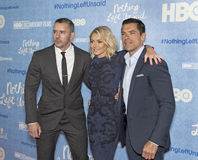 Benjamin Maisani, Kelly Ripa, et Mark Consuelos Photo libre de droits