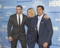 Benjamin Maisani, Kelly Ripa, and Mark Consuelos Royalty Free Stock Photo