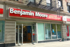Benjamin Moore Store. A Benjamin Moore store on the Upper West Side of Manhattan. Benjamin Moore Paints is an American company that produces paint and is owned Stock Image