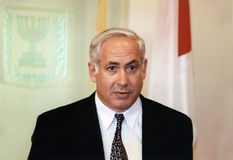 Benjamin Netanyahu Stockfotografie