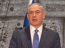 Benjamin Netanyahu stock afbeelding