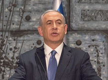 Benjamin Netanyahu Fotografia Stock
