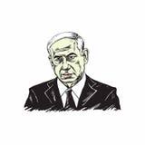 Benjamin Netanyahu, Eerste minister van Israel Illustration Vector Design vector illustratie
