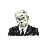 Benjamin Netanyahu, Prime Minister of Israel Illustration Vector Design. Royalty Free Stock Photography