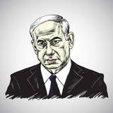 Benjamin Netanyahu, Primo Ministro di Israel Illustration Vector Design illustrazione vettoriale
