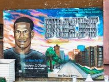 Benjamin O'Garro mural, Brooklyn, NYC. Royalty Free Stock Images
