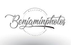 Benjamin Personal Photography Logo Design met Fotograaf Name royalty-vrije illustratie