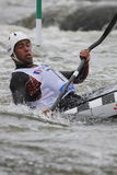 Benjamin Renia in water slalom world cup race Royalty Free Stock Image