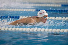Benjamin Starke swimming Butterfly Stock Images