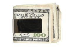 Benjamins no grampo Imagem de Stock Royalty Free