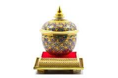 Benjarong瓷。 免版税库存图片
