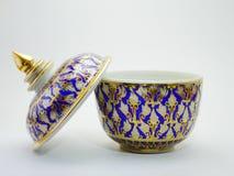 Benjarong, ceramico, porcellana, bella dalla Tailandia Immagine Stock Libera da Diritti