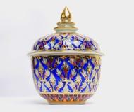Benjarong, ceramico, porcellana, bella dalla Tailandia Fotografie Stock Libere da Diritti