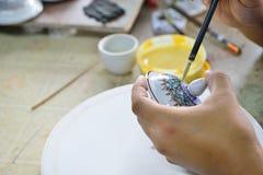 Benjarong de cerámica Imagen de archivo