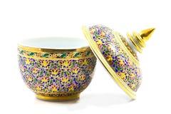 Benjarong porcelana. Fotografia Stock