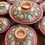 Benjarong pottery Royalty Free Stock Photos