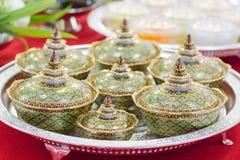 Benjarong, Tajlandzka antyczna ceramika zdjęcie stock
