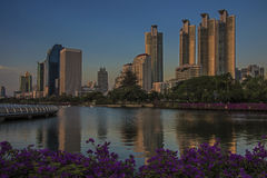Benjasiri park in Bangkok Royalty Free Stock Photo